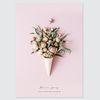 플라워 식물 디자인 포스터-장미부케 (A4)