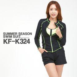 쿠기 여성 래쉬가드 세트 KF-K324 + KT-K356