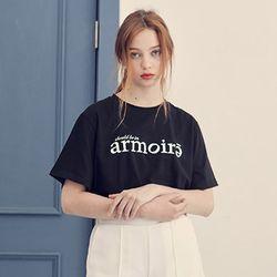 시그니처 로고 티셔츠 [블랙]