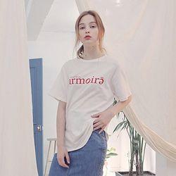 시그니처 로고 티셔츠 [화이트]