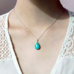 몰디브 오션 터키석 Silver Necklace (12월 탄생석)