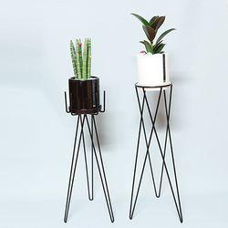 화분스탠드(H)+공기정화식물(스투키or고무나무)세트