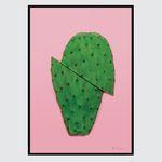 컬러팝 시리즈 알루미늄액자-핑크선인장 (A4)