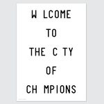 welcome to the city 포스터 (A3)