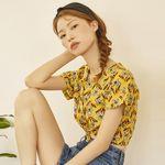 forsythia flower blouse