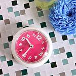 (kthx0455)욕실 흡착시계 (핑크)