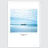 자연 풍경 인테리어포스터- 작은섬 blue. 01 (A3)