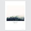 자연 풍경 포스터- 아침숲의 안개 green. 01 (A3)