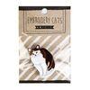 [1300K 단독특가] 고양이 자수 와펜 옷핀 브로치