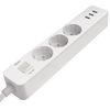 칭미 USB 멀티탭 3구 USB 3포트 멀티콘센트 CYAN 1.4M