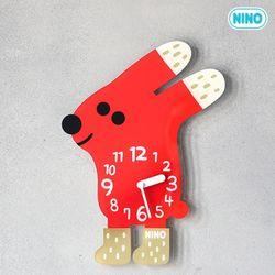 니노타임-빨강토끼(소)+아크릴받침대