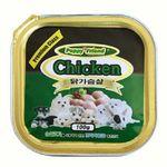 퍼피프랜드 닭고기 사각캔 100g24 1박스애견캔간식