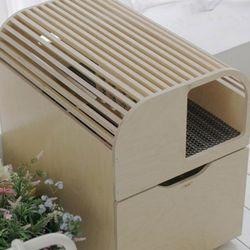 고양이원목화장실 리브 심플_완성형 (풀옵션)