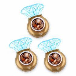 다이아몬드링 음료 튜브 컵홀더 보트 반지