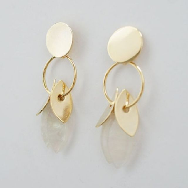 gold round palm tree earringgold round palm tree earring :: 1300K.com - 웹