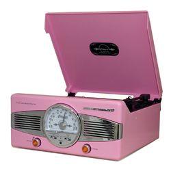 클래식 턴테이블&라디오-pink