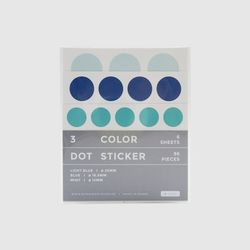 3 Color Dot Sticker (Light blue Blue Mint)