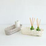 레이스꽃타원바스켓(2color)