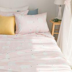 북극곰 기능성 여름이불(핑크) 퀸 베개포함