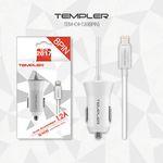 템플러 차량용 1.2A 일체형 8핀 충전기
