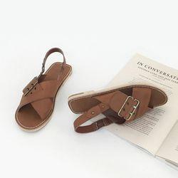 Buckle Stitch sandal