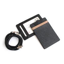 사원증 목걸이 카드홀더 지갑 w33017(블랙)