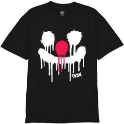 [사쿤][티셔츠] T-SPRAY PIERROT(BLACK)