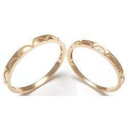 14k GOLD 커플링 물결 금커플링금반지 RCS1870