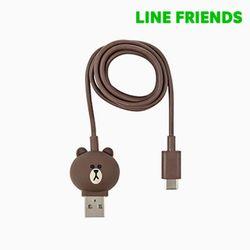 브라운 충전싱크 케이블 일체형 (USB-C타입)