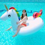 [무료배송] 스윔어바웃 초대형 유니콘 물놀이튜브 277CM