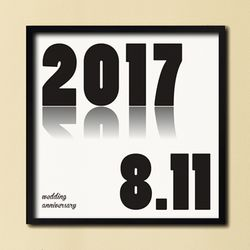 LP 메탈 액자 - 기념일 주문제작 액자