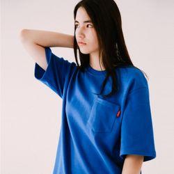 [무료배송] 패치 포켓 코튼 티셔츠 :블루