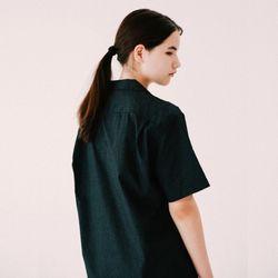 [무료배송] 베케이션 볼링 하프 셔츠 :블랙