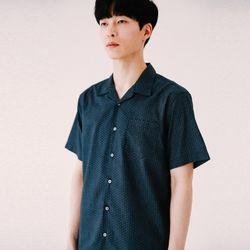 [무료배송] 베케이션 볼링 하프 셔츠 :네이비