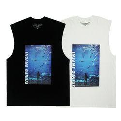 인세인지니어스 아쿠아리움 슬리브리스 티셔츠