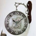 (ksiw009)펄 부엉이 양면시계 실버