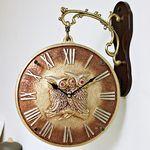 (ksiw011)펄 부엉이 양면시계 골드