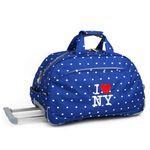 캐리어 아이러브뉴욕 NYFS-20 블루 롤링더플백더플백