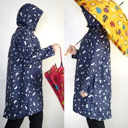 무민 프린트 비옷(레인코트)