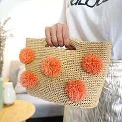 코바늘 폼폼 라피아 가방 DIY 키트