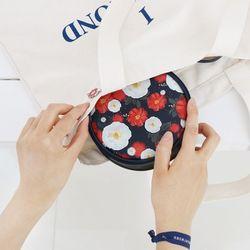 [태슬증정] 디랩x마리몬드 Pang Pang Pouch - 동백(네이비)