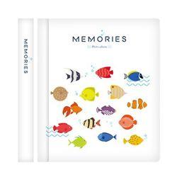 메모리즈 접착식 포토북 사진첩-Tropical fish