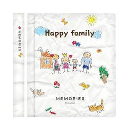 메모리즈 접착식 포토북 사진첩-Wimpy family