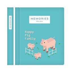 메모리즈 접착식 포토북 사진첩-Pig family