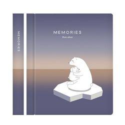 메모리즈 접착식 포토북 사진첩-Polar bears