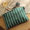Stripe Green Clutch