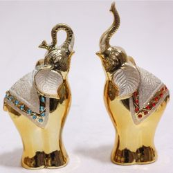 H6813 골드코끼리 장식인형