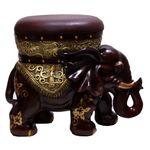 H6977 브라운코끼리의자겸 수납장식