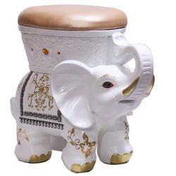 H6978 화이트코끼리의자겸 수납장식