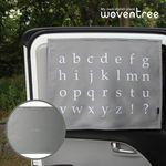 우븐트리 차량용 양면 자석 햇빛가리개 알파벳